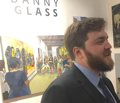 Danny Glass showcases his artwork at Art Basel